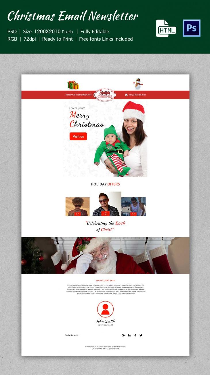 premium christmas cantata e mail newsletter