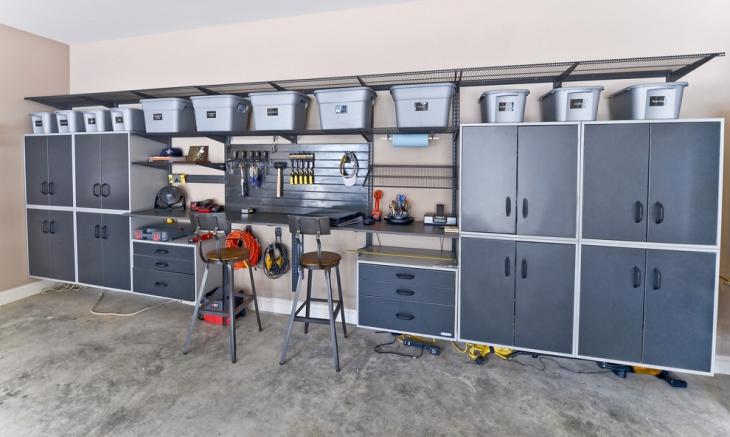 garage wood storage cabinet