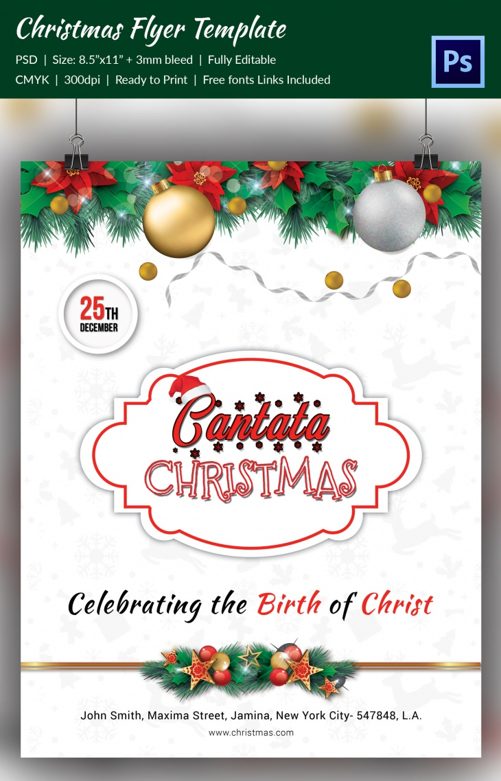 image relating to Free Printable Christmas Cantata identified as 48+ Xmas Freebie Models Layout Developments - Top quality PSD