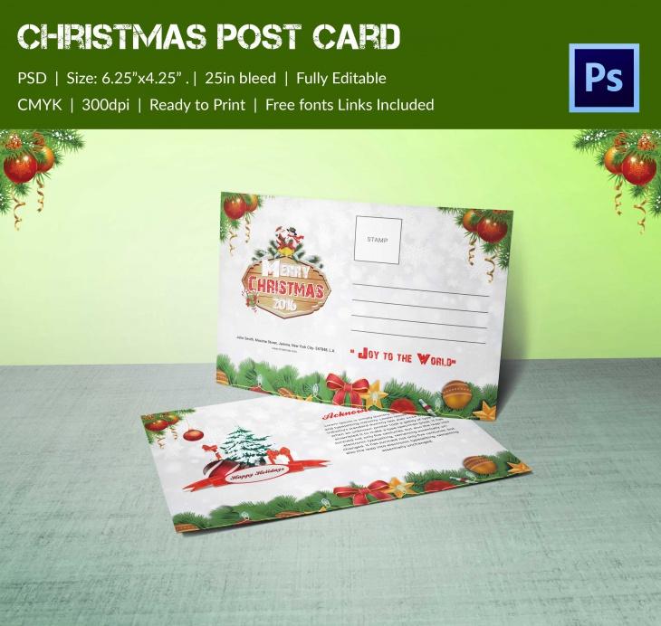 christmas broucher 2016 post card