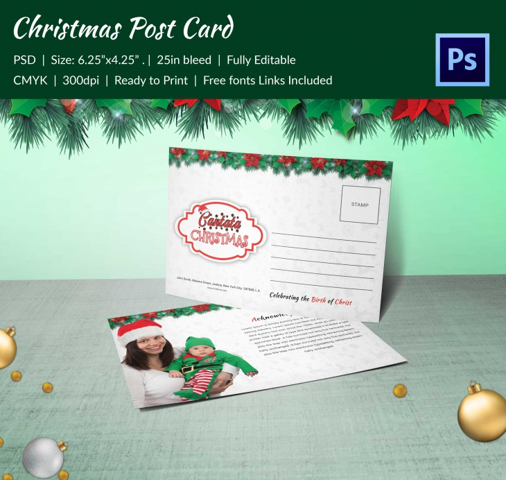 premium christmas cantata brochure post card