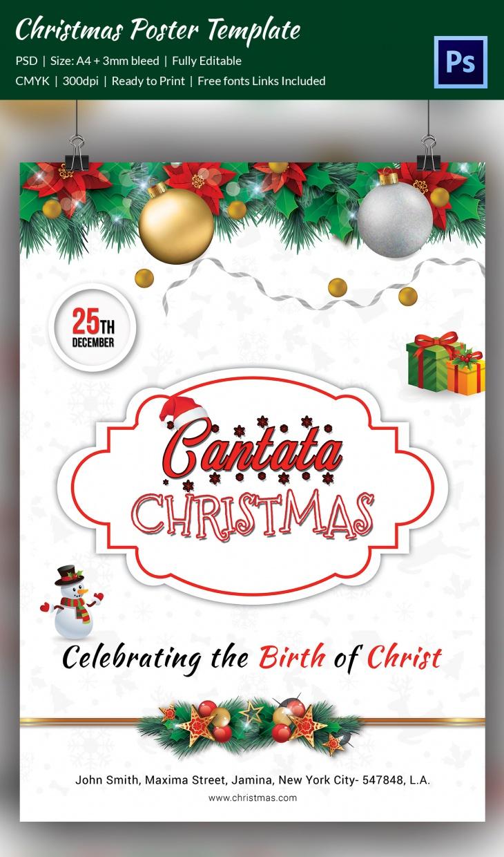 premium christmas cantata brochure poster