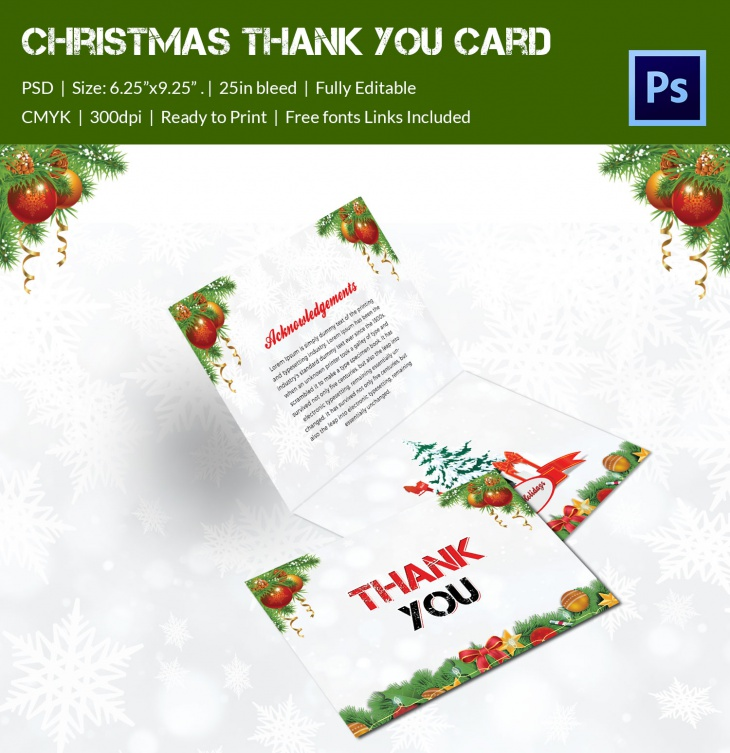 christmas broucher 2016 thankyou card