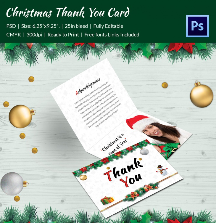 premium christmas cantata brochure thankyou card
