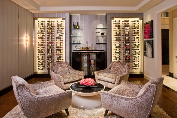 contemporary wine storage cabinet
