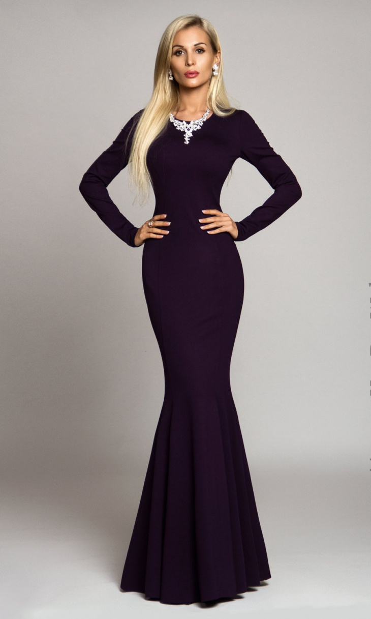 mermaid maxi bodycon dress1