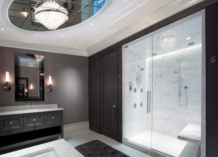 crystal bathroom ceiling light