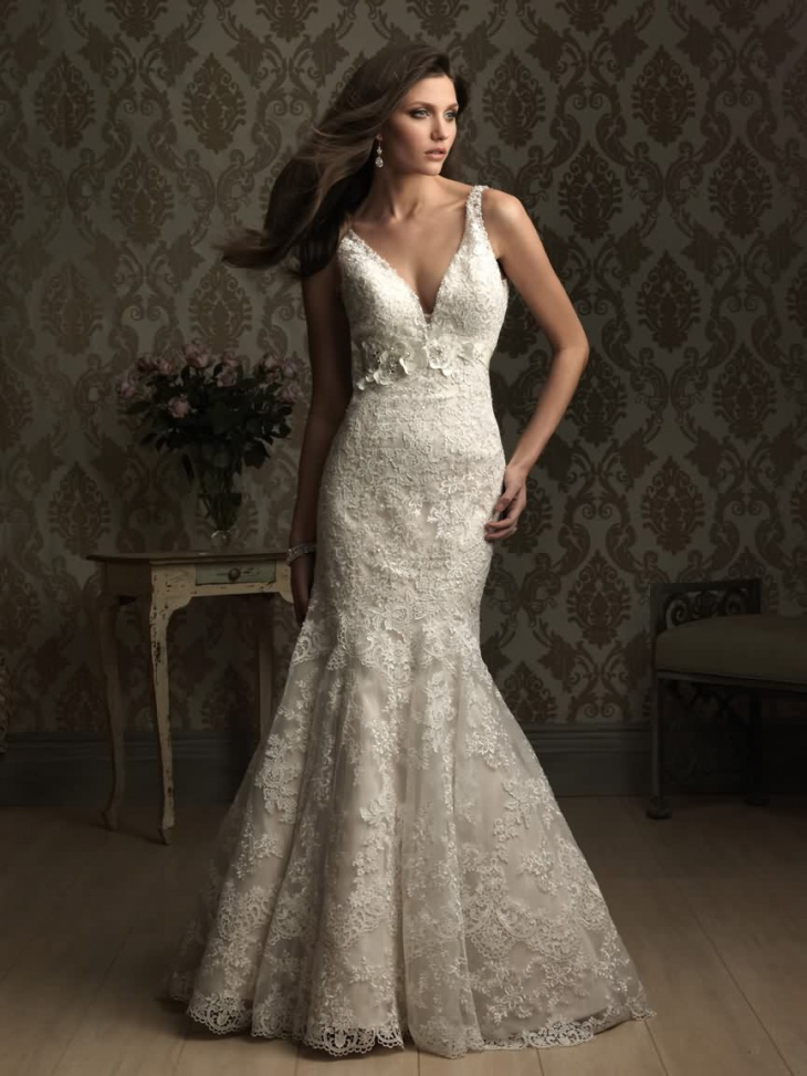 floral mermaid wedding dress1