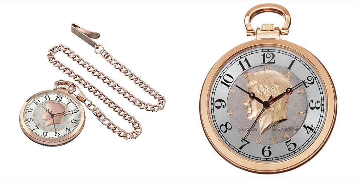 august steiner rose gold pocket watch