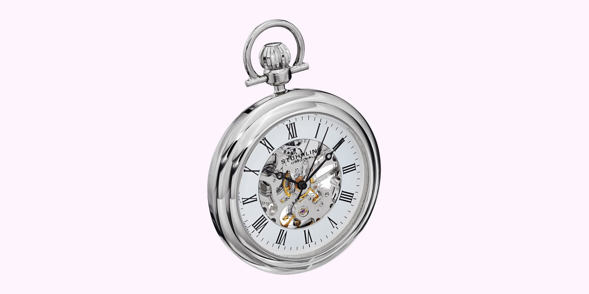 stuhrling mechanical vintage pocket watch