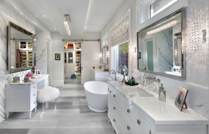 contemporary crystal bathroom lighting