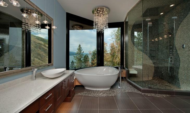 contemporary crystal bathroom lighting1