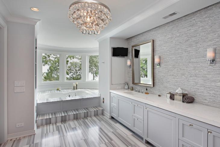 crystal chandelier bathroom lighting