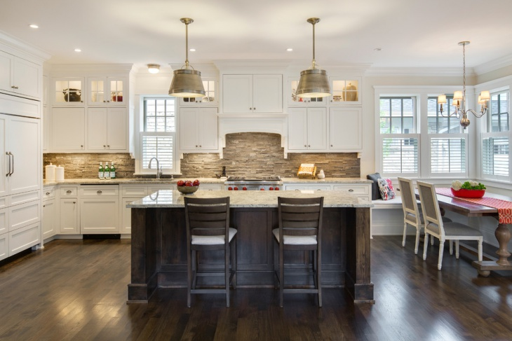 Colored Backsplash Kitchen White Cabinets