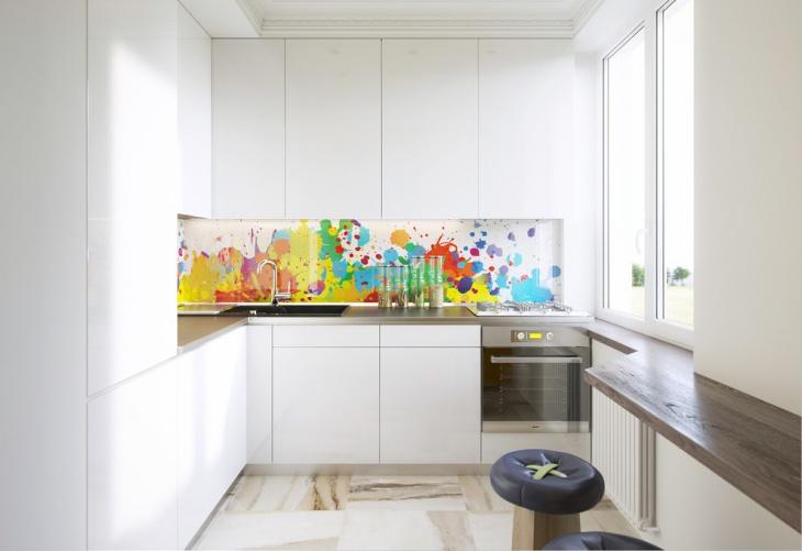 colorful diy kitchen backsplash