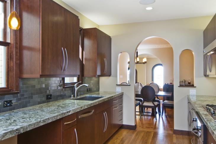 kitchen counter tile backsplash