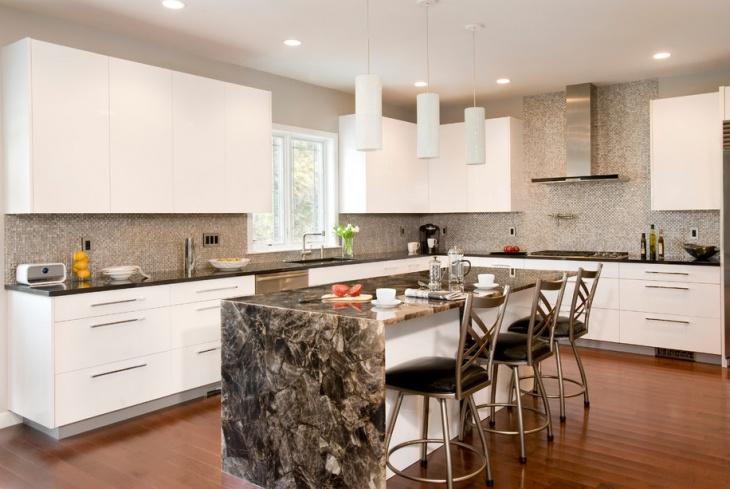 contemporary mosaic kitchen backsplash