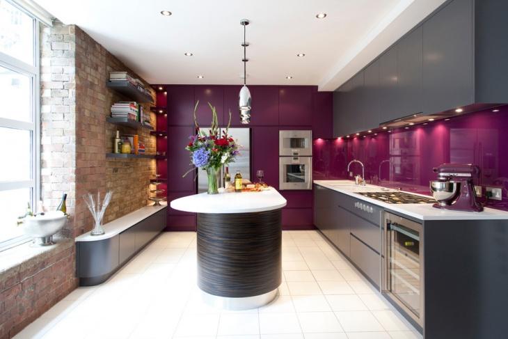 colorful apartment kitchen backsplash