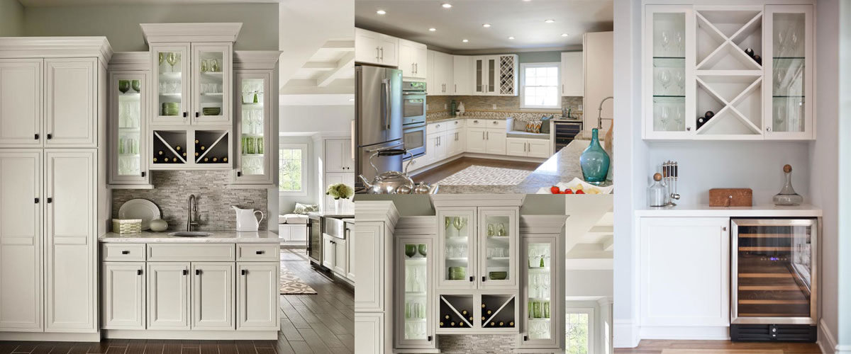 white panelled cabinets