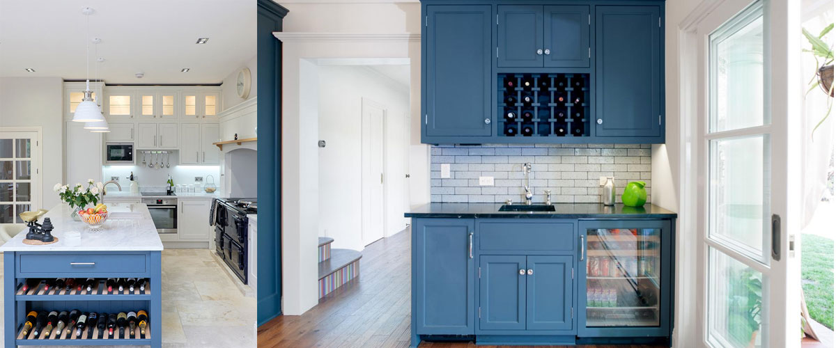 pop of color wine cabinets