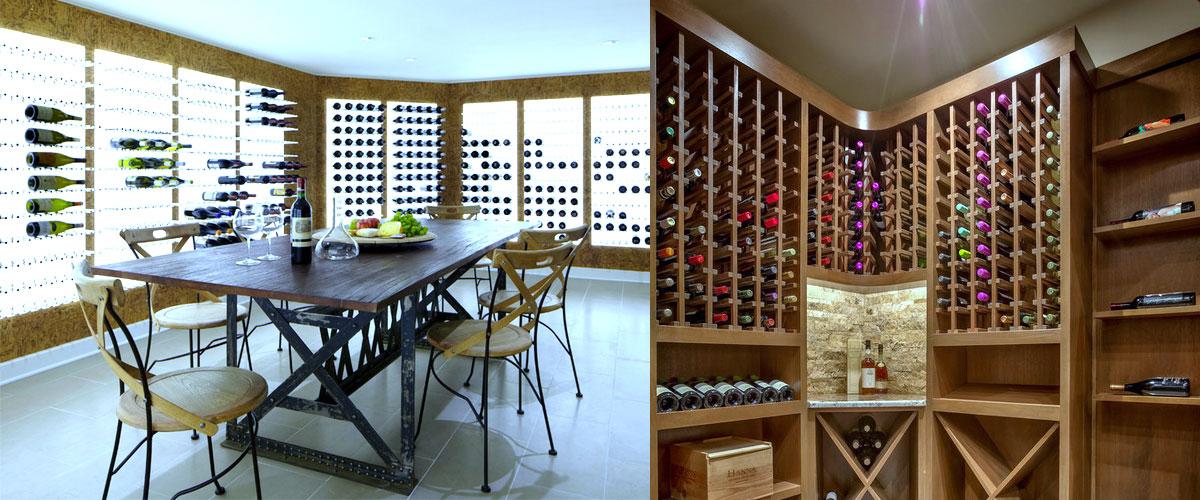 modern cellar style cabinet