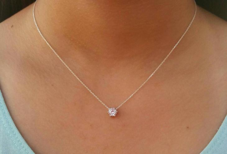 floating diamond necklace1