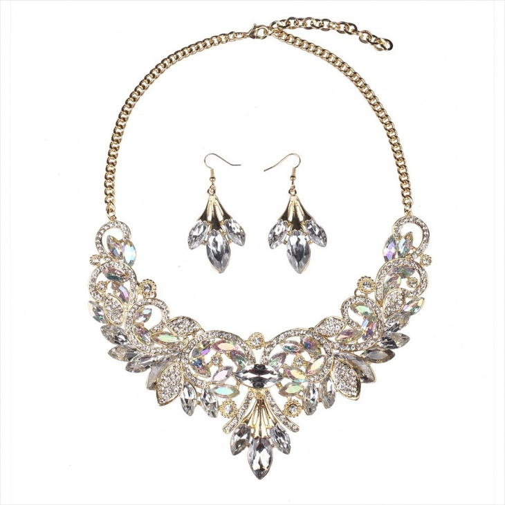 choker crystal statement necklace