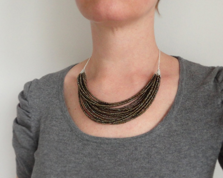 bib layered statement necklace