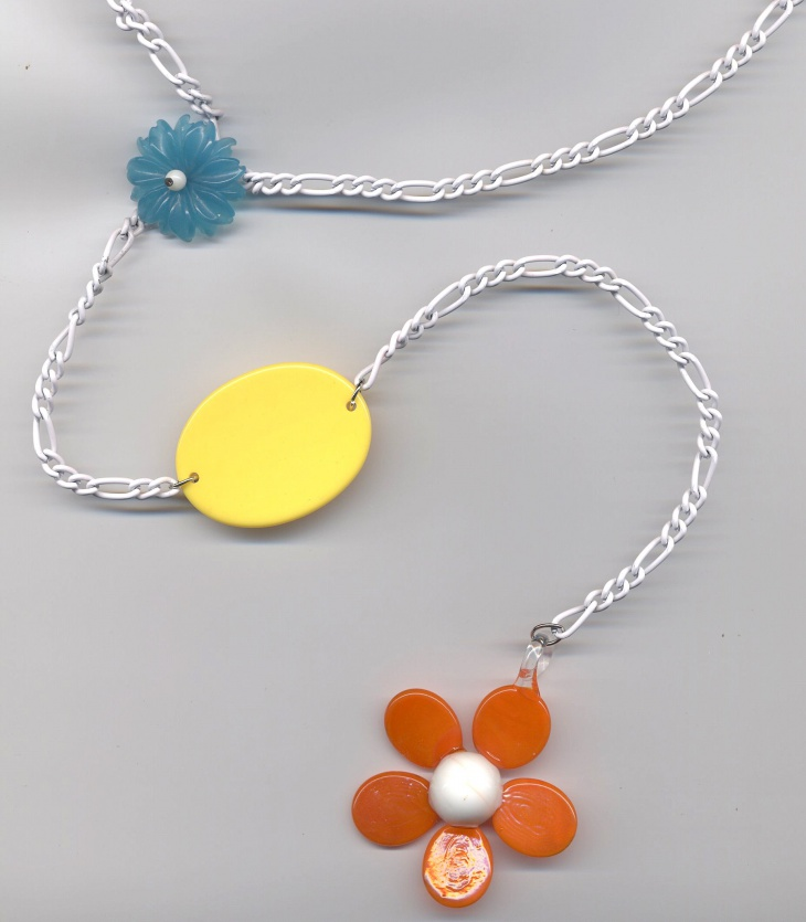 silver daisy statement necklaces