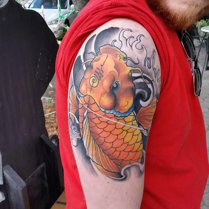 Koi Fish Chest Sleeve Tattoos: 21+ Koi Fish Tattoo Designs, Ideas