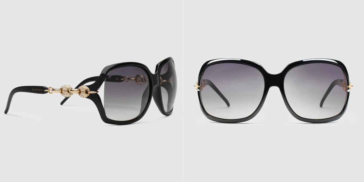 Crystal marina chain sunglasses