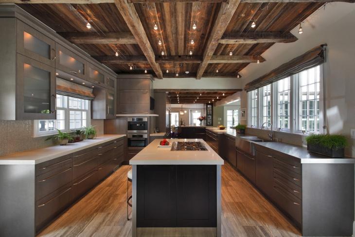 rustic kitchen ceiling lighting