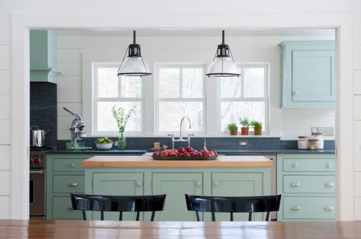 vintage farmhouse kitchen lighting
