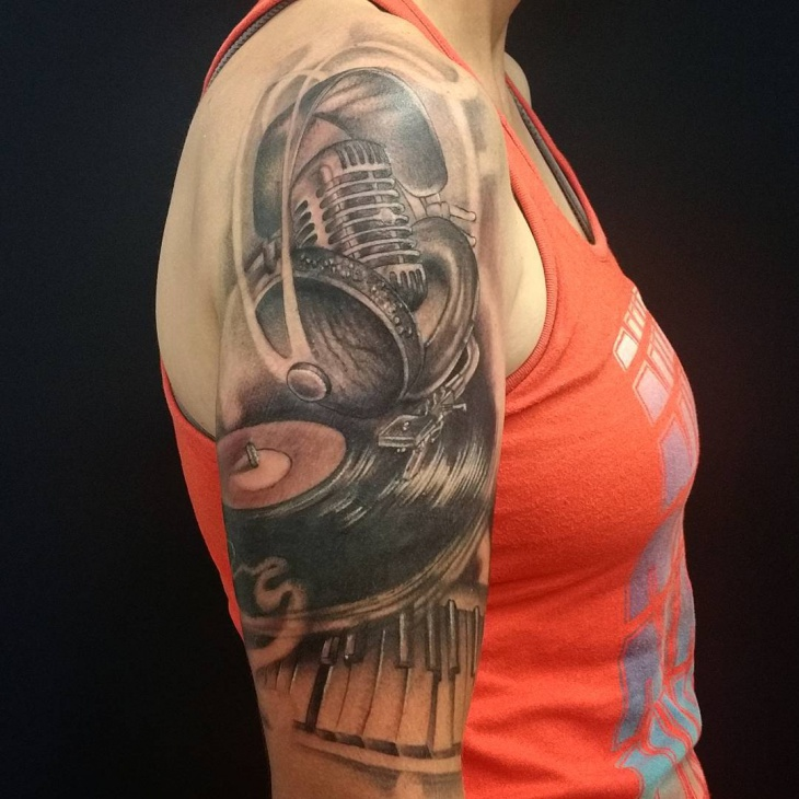 music arm tattoo for arm