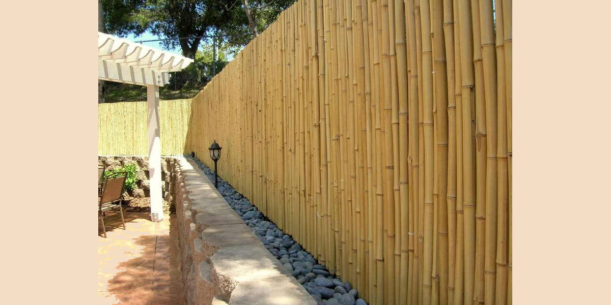 modern bamboo garden fence