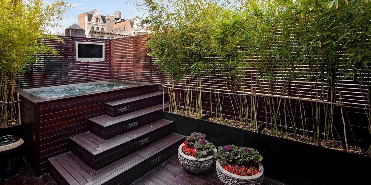 contemporary style bamboo garden