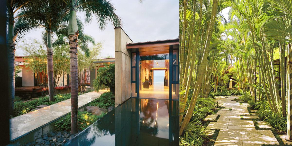 hawaiian style bamboo garden