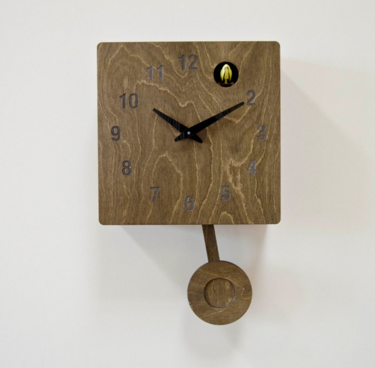 Exceptional Contemporary Pendulum Wall Clock Design