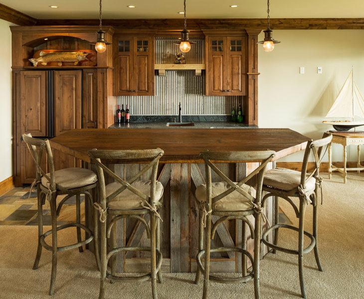 vintage rutic bar table