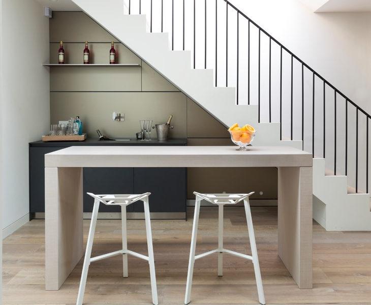 white modern bar table