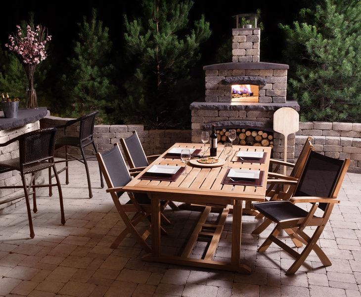 patio oak bar table