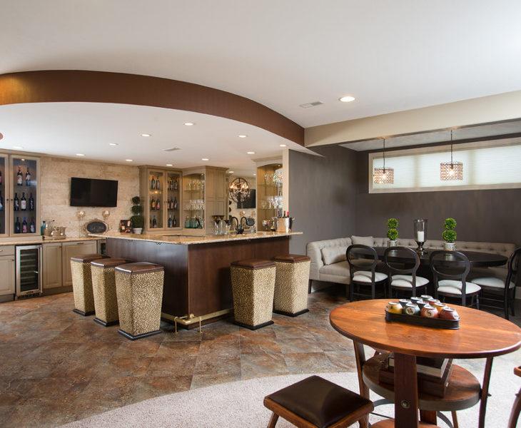 modern corner bar table