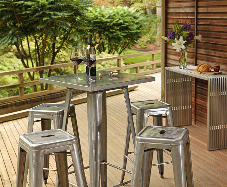 outdoor industrial bar table