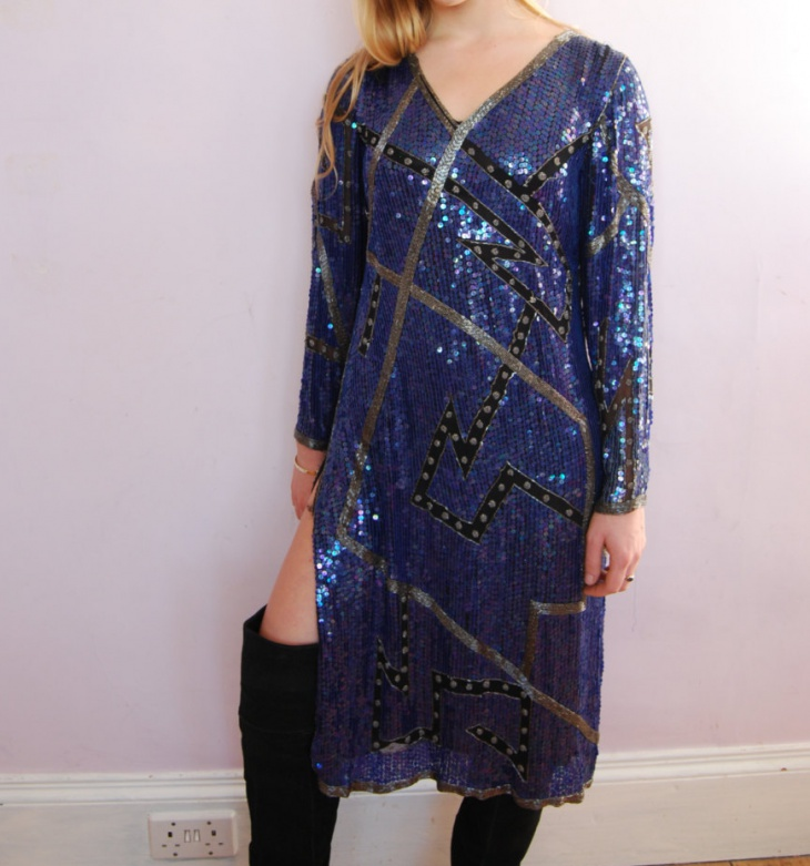 sequin mini shift dress
