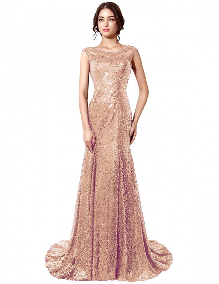 mermaid gold sequin dress