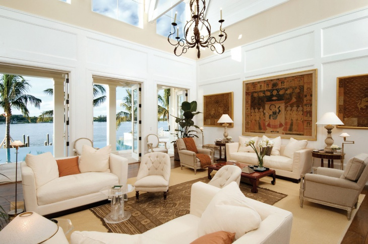 Traditional White Living Room Furniture