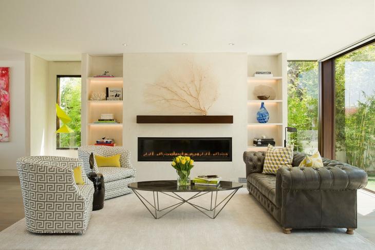 modern tufted leather sofa design