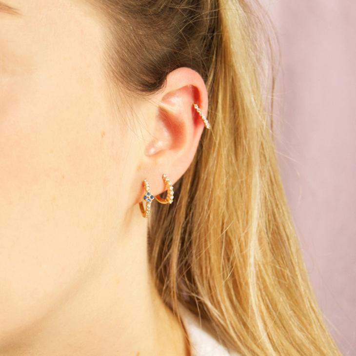 gold cartilage hoop earrings
