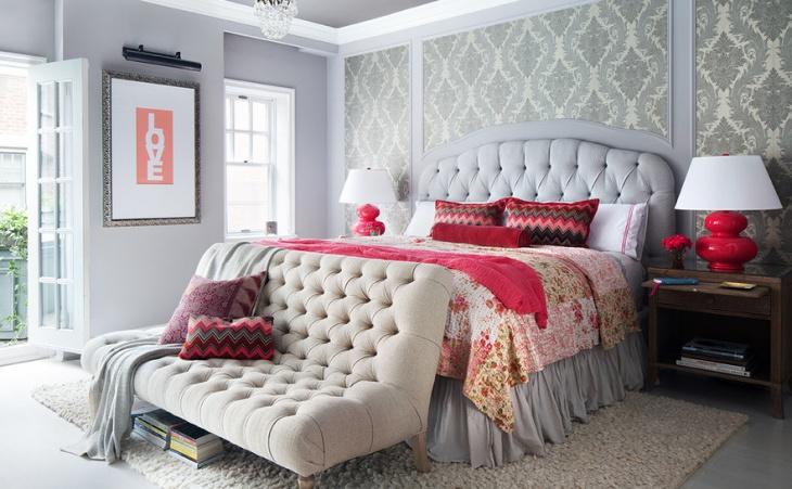 Tufted Fabric Sleeper Sofa