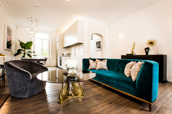velvet button tufted sofa